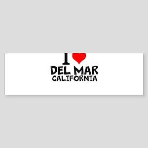 I Love Del Mar, California Bumper Sticker