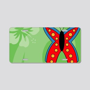 Butterfly Car Flag Aluminum License Plate