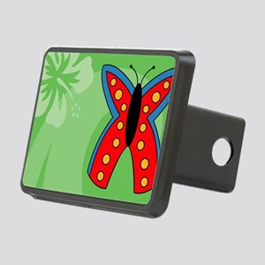 Butterfly Car Flag Rectangular Hitch Cover