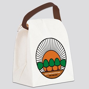 GREEN  TREES OR ROTTEN REETH - TA Canvas Lunch Bag