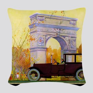 6 JUNE PHIANNA TOWN CAR Woven Throw Pillow