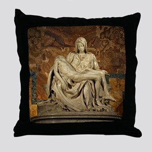 Michelangelos Pieta Throw Pillow