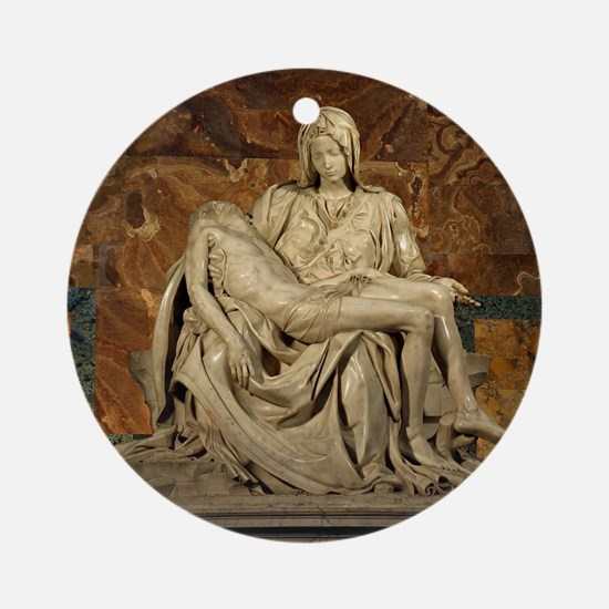 Michelangelos Pieta Round Ornament