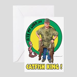 Catfish King   Catfish Greeting Cards Cafepress