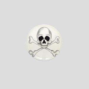 Skully Crossbone Mini Button