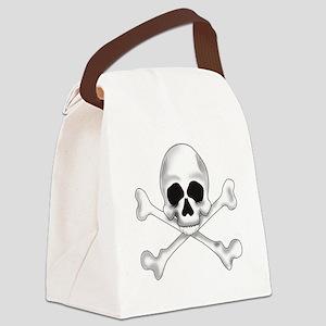 Skully Crossbone Canvas Lunch Bag