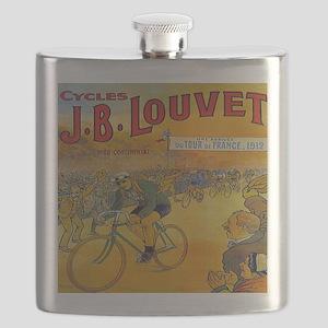 Vintage Tour de France Poster Flask