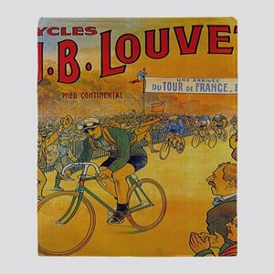Vintage Tour de France Poster Throw Blanket