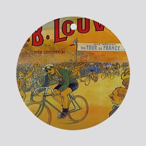 Vintage Tour de France Poster Round Ornament