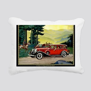 9 SEPT LA SALLE V-8 Rectangular Canvas Pillow