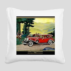 9 SEPT LA SALLE V-8 Square Canvas Pillow