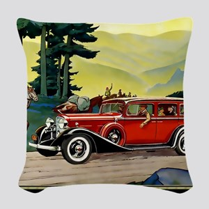 9 SEPT LA SALLE V-8 Woven Throw Pillow