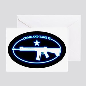 Oval - Come and Take It (BlueGlow) Greeting Card