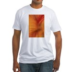 Willow Grass on Orange Fitted T-Shirt