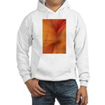 Willow Grass on Orange Hooded Sweatshirt