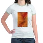 Willow Grass on Orange Jr. Ringer T-Shirt