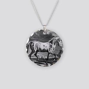 Spotted Vienna Stallion Necklace Circle Charm