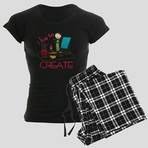 Live To Create Women's Dark Pajamas
