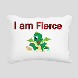 I am Fierce Rectangular Canvas Pillow