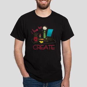 Live To Create Dark T-Shirt