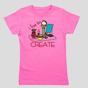 Live To Create Girl's Tee