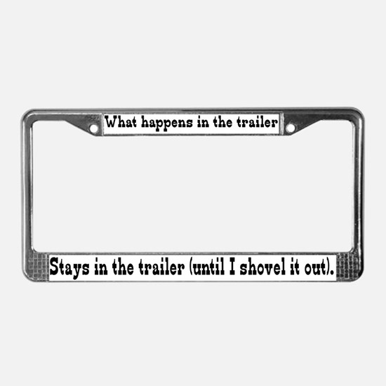 What Happens in the Trailer License Plate Frame