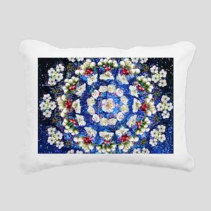 Hawthorn Rose Mandala mi Rectangular Canvas Pillow