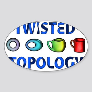 Twisted Topology Sticker (Oval)