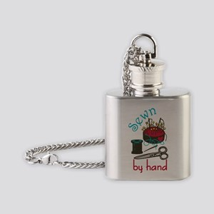 Sewn By Hand Flask Necklace