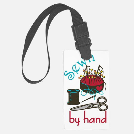Sewn By Hand Luggage Tag