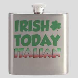 Irish Today Italian Tomorrow Flask