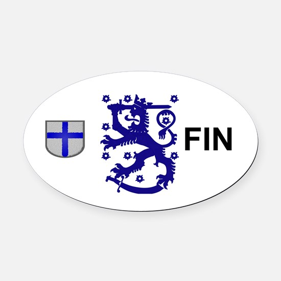 Finland  Oval Car Magnet
