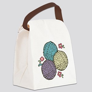 Yarn Trio Canvas Lunch Bag