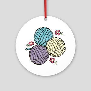 Yarn Trio Round Ornament