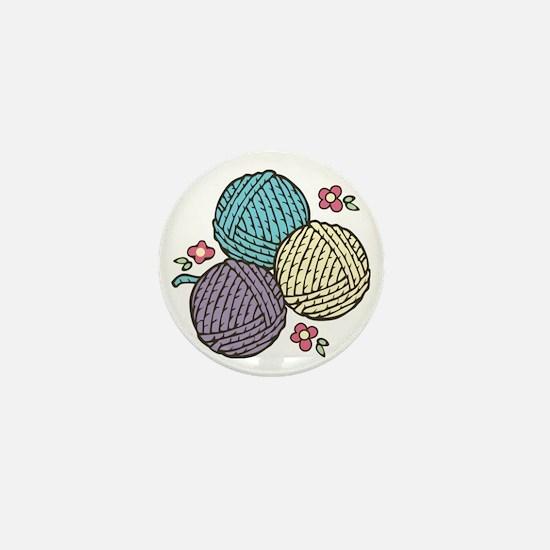 Yarn Trio Mini Button