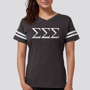 Sigma Sigma Sigma Letters Womens Football Shirt
