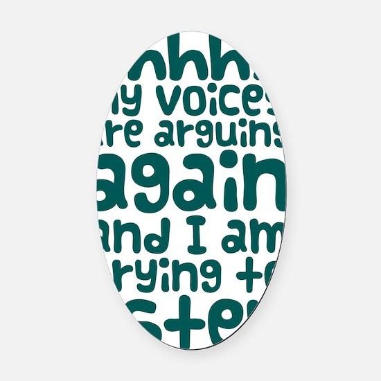 voices Oval Car Magnet