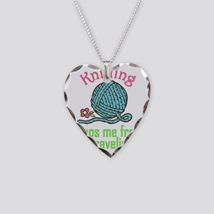 Keeps Me From Unraveling Necklace Heart Charm