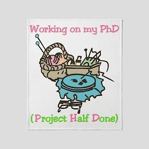 PhD Throw Blanket