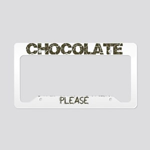 Chocolate Prescription Streng License Plate Holder