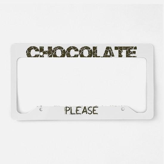 Chocolate Prescription Streng License Plate Holder