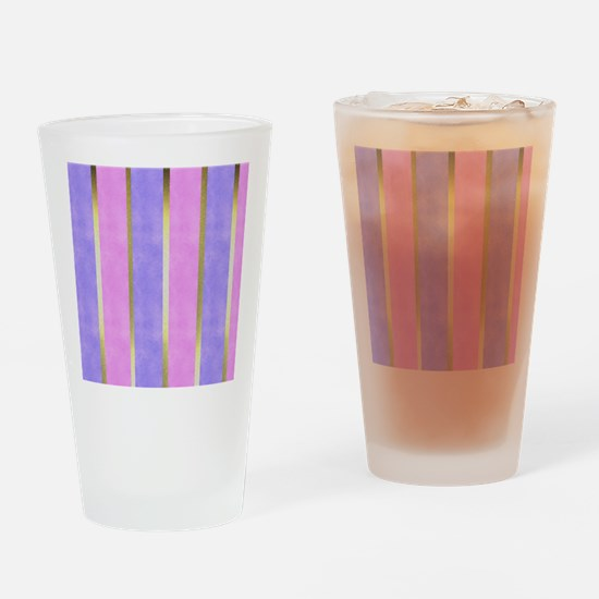 Blue and Pink Striped Drinking Glass