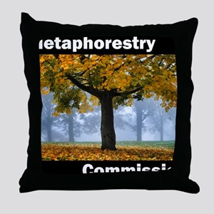 Metaphorestry Commission Square Throw Pillow