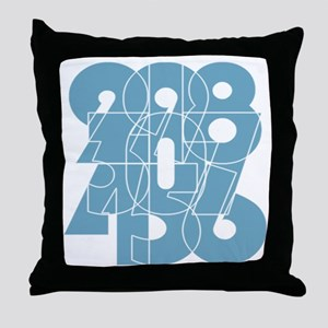 ag-ss_cnumber Throw Pillow