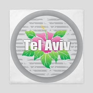 Tel Aviv Hibiscus Queen Duvet