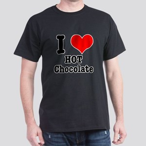 I Heart (Love) Hot Chocolate Dark T-Shirt