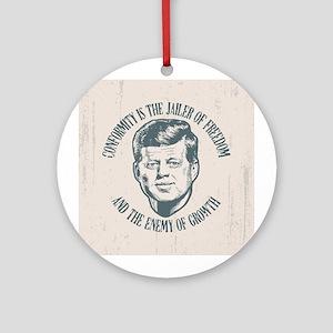 JFK -Conformity Ornament (Round)