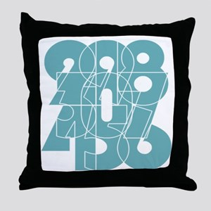 nvy-ss_cnumber Throw Pillow