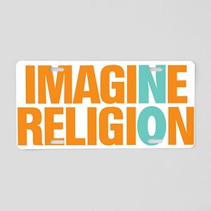 Imagine No Religion Aluminum License Plate