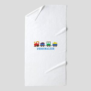 Personalized Kids Choo Choo Train Beach Towel